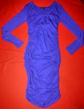 Isabella Oliver Lovely Long Sleeve Blue Maternity Dress Size 2 (UK 10 US 6)
