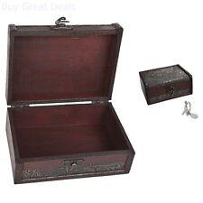 Treasure Box 5.46in Chest Small Wood Keepsake Baby Hair Cut Umbilical Cord Tarot