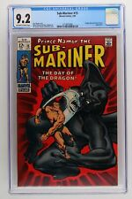 Sub-Mariner #15 - Marvel 1969 CGC 9.2 Dragon Man and Doctor Dorcas Appearance.