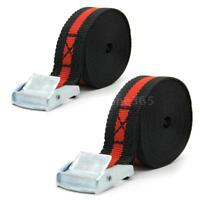 """1"""" 8 FT Heavy-Duty TWO Ratchet Strap Cargo Tie-Downs Flatbed Straps Hook H8F6"""