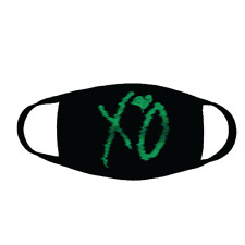 Xo Face Mask Cloth Covering The Weeknd Kissland Xo Logo Green + Free Shipping