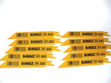 """New 10 Pcs Dewalt 6"""" X 14 Tpi Bi-metal  Reciprocating Saw Blades-Free Shipping"""