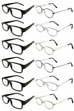 12 Reading Glasses [+2.00] 6 Black Plastic Frame 6 Assorted Metal Frame 2.00