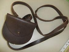 Ladies bag DKNY leather shoulder strap 12x10cm brown press closer
