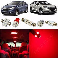 10x Red LED lights interior package kit for 2016 & Up Honda HR-V HV4R