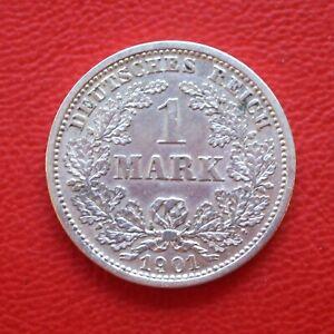 1 Mark 1901 D vz- / SILBER / Kaiserreich / Deutsches Reich / KM#14 J#17