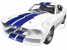1967 FORD SHELBY MUSTANG GT 500 WHITE W/ BLUE STIPES 1/18 CAR GREENLIGHT 12929