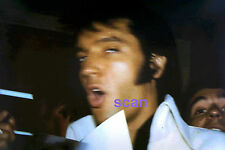 ELVIS PRESLEY WITH BLUE SCARF BACKSTAGE LAS VEGAS 8/12/69 PHOTO CANDID #3