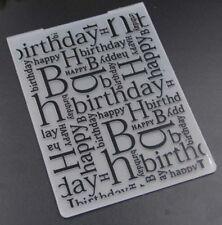 Brand New Happy birthday worded embossing folder