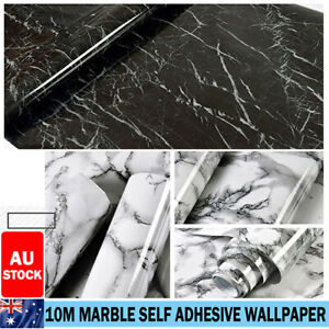 10M Marble Wall Sticker Decor Roll Wallpaper Self Adhesive Contact Paper PVC