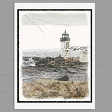 6 Marshall Point Lighthouse Maine Coast Blank Art Note Greeting Cards
