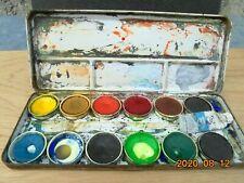 TALENS Ancienne  Boîte en métal pour aquarelle