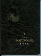 Bradley Polytechnic Institute 1938 Polyscope Yearbook Peoria Illinois HB B&W