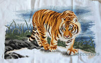 "NEW finished completed Cross stitch""TIGER""home decor gifts"