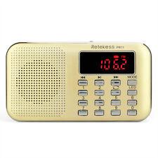 Retekess Digital FM/ AM Radio MP3 Player Multimedia Speaker Max 16GB &Flashlight