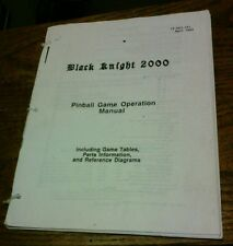 Williams Black Knight 2000 Pinball Machine Manual - used copy in good shape!