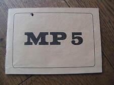 Breve descripción de la maquinaria pistola mp5 submachine gun 1967