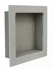 Houseables Shower Niche Tile Insert Storage Shelf 12 x 12 Inch Grey XPS Foam.