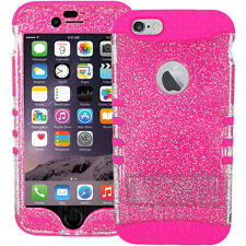 Shock Proof Impact Rubber Soft Hard GLITTER Armor Cover Case for Cell Phones