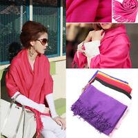 Winter Women Wrap Scarf Cashmere Wool Warm Scarves Long Large Shawl Tassel