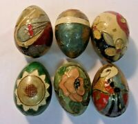 Vintage India FOUNDRY COLLECTION Solid Brass Enamel Egg Paperweights - lot of 6