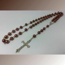Jesus Kreuz Kette Halskette Madonna Rosenkranz Perlenlette Schmuck Ypsilonkette