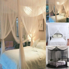 Mosquito Netting 4 Corner Post Bed Canopy Mosquito Net Full King Size Bedding