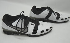 NEW NIKE ROMALEOS WEIGHT LIFTING SHOES - SIZE USA 17 - WHITE/BLACK/SILVER
