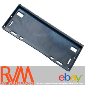 """RVM Universal Quick-Attach Mount Plate / Adapter [5/16""""] SOLID for Skid-Steers"""