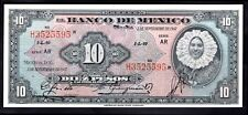 Mexico: Banco de Mexico, 10 Pesos, 3-9-1947, Series AR h3525595, (Pick 47b),...