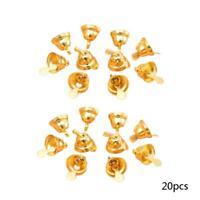 20 × kleine Metall Glocken für Weihnachten Baum Ornamente HEIßE Handwerk V9E3