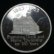 1983 Home Federal Savings Charlotte 1 Troy oz .999 Fine Silver Bank Round Coin