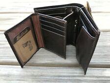 Genuine Supreme Leather Men Wallet Multi Card Holder Handmade Brown Purse