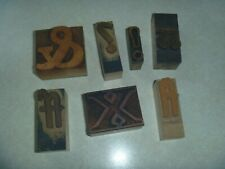 vintage antique woodblock letters for printing graphic arts artwork alphabet