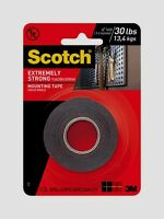 """SCOTCH MOUNTING TAPE Holds 30 lbs Double Sided Hang EXTREMELY STRONG 1""""W x 60""""L"""