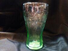 Mini 6 oz Libbey Coca-Cola Brand Green Bell Shaped Genuine Glass Free Shipping