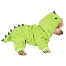 Pet Dinosaur Costume Coat Clothes Hoodie Puppy Dog Cat Cosplay Warm Outfit Decor