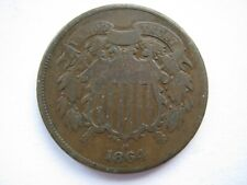 United States 1864 copper 2 Cents Nf