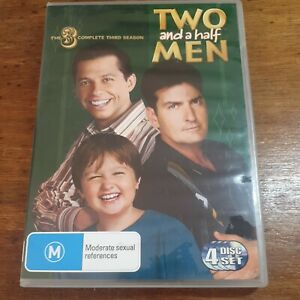 Two and a Half Men Complete Third Season 3 DVD R4 Like New! FREE POST