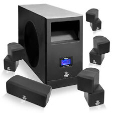 NEW Pyle PHSA5 5.1 Home Theater Speaker System + Subwoofer and Five Speakers