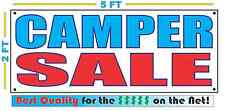 CAMPER SALE Full Color Banner Sign NEW XXL Size Best Quality for the $ CAR LOT