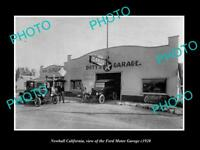 OLD LARGE HISTORIC PHOTO OF NEWHALL CALIFORNIA, THE FORD MOTOR GARAGE c1920