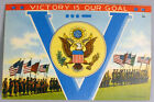 WWII VICTORY IS OUR GOAL POST CARD BRITAIN GERMANY UNITED STATES PATRIOTIC !!