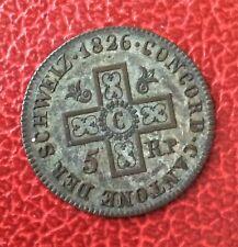 Suisse - Canton de Bale / Basel - Très Jolie monnaie de 5 Rappen 1826
