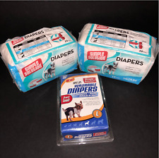 Simple Solution Medium 24 ct Disposable Diapers Female Dog 2 Large Washable Lot