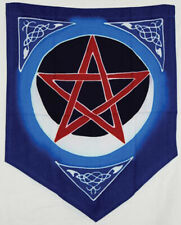 """New listing Pentagram Flag Banner Pennant Wicca Pagan Witch Pentacle 18"""" x 16"""" Celtic Design"""