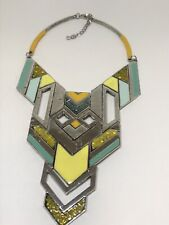 NEW Bold Metal Statement Necklace Costume Fashion Jewelry