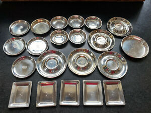 Lot of STERLING SILVER Small dishes & More, use or scrap , Monos 564 grams