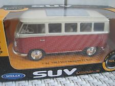 1 32 1963 VOLKSWAGEN T1 Bus rot Welly
