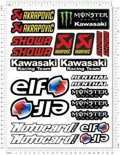 ZX-10R Motorcycle Decals WSBK Laminated Stickers Set ZX10R Monster Elf Motocard